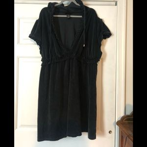 Lane Bryant terry beach coverup- black size 26/28